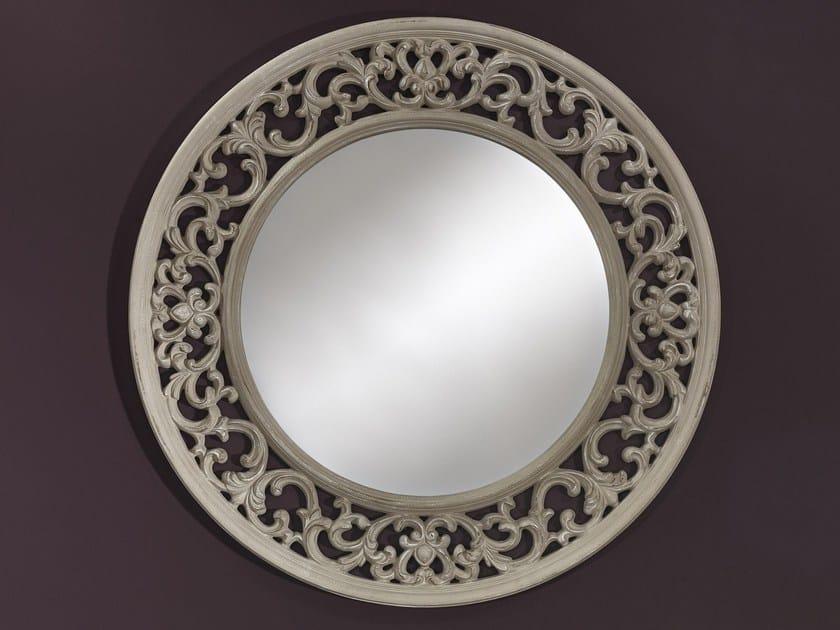 Round wall-mounted framed mirror OPERA - DEKNUDT MIRRORS