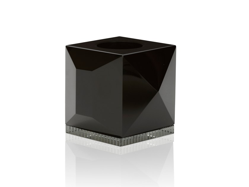 Crystal candle holder OPHELIA BLACK - Reflections Copenhagen