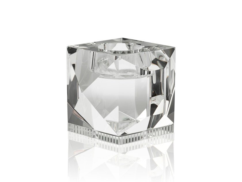 Crystal candle holder OPHELIA CLEAR - Reflections Copenhagen