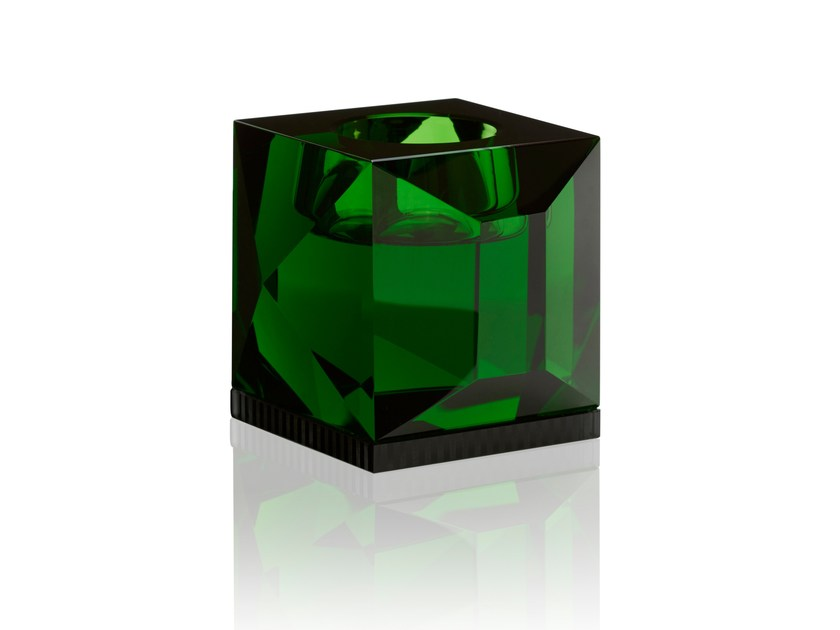 Crystal candle holder OPHELIA GREEN - Reflections Copenhagen