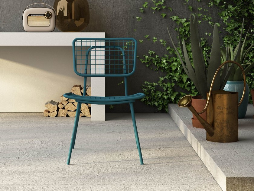 Stackable metal garden chair OPLÀ S by Imperial Line