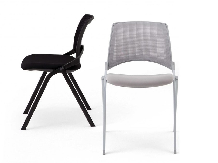 Stackable reception chair OPLA' MESH | Chair by IBEBI