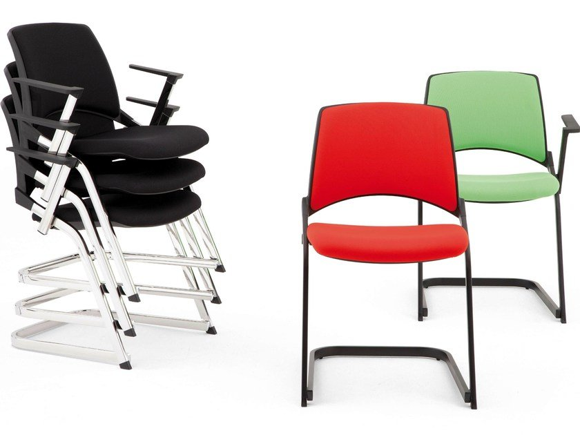 Cantilever reception chair OPLA' | Cantilever chair - IBEBI