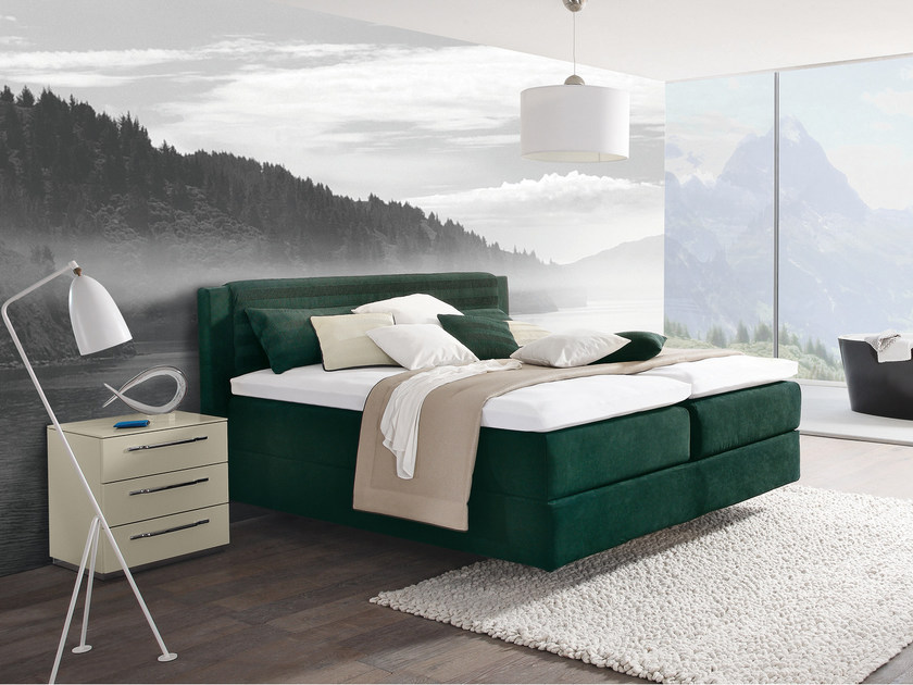 Fabric double bed with upholstered headboard OPUS II - Hülsta-Werke Hüls