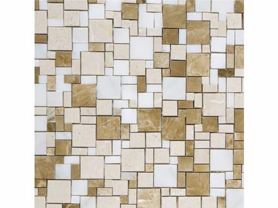 Marble mosaic OPUS MARRONE by FRIUL MOSAIC