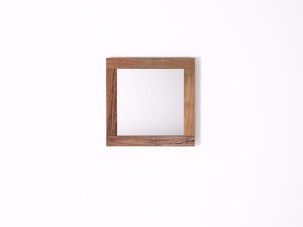 Square wall-mounted framed mirror ORGANIK OR30-TMH | Mirror - KARPENTER