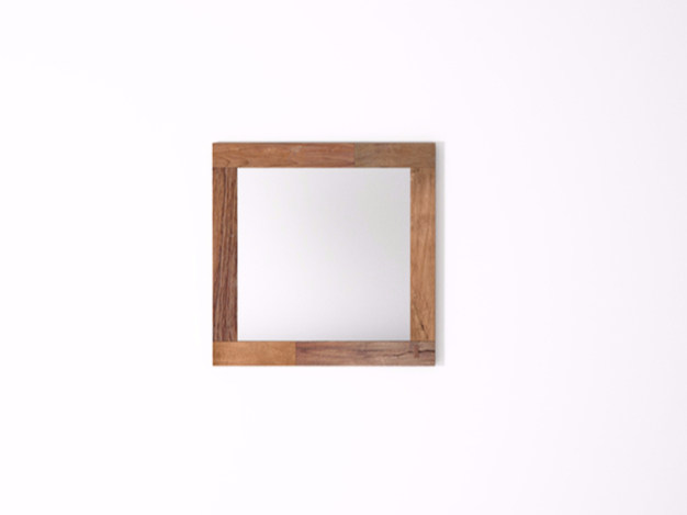 Square wall-mounted framed mirror ORGANIK OR31-TMH | Mirror - KARPENTER