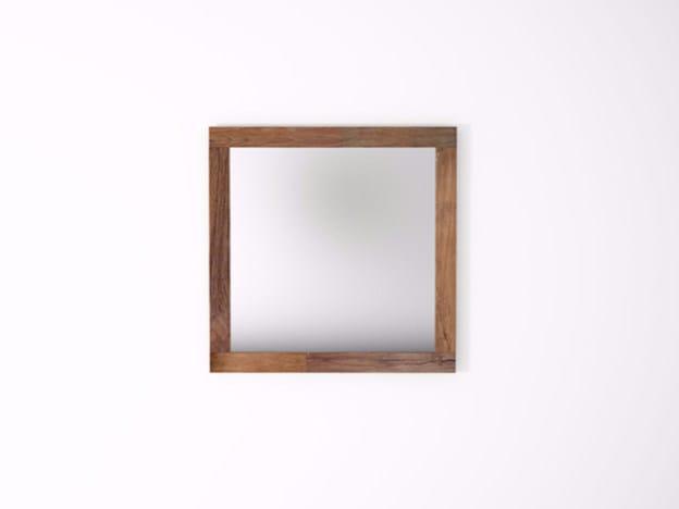 Square wall-mounted framed mirror ORGANIK OR32-TMH | Mirror - KARPENTER