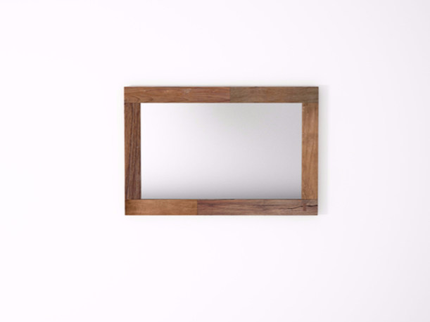 Rectangular wall-mounted framed mirror ORGANIK OR34-TMH | Mirror - KARPENTER