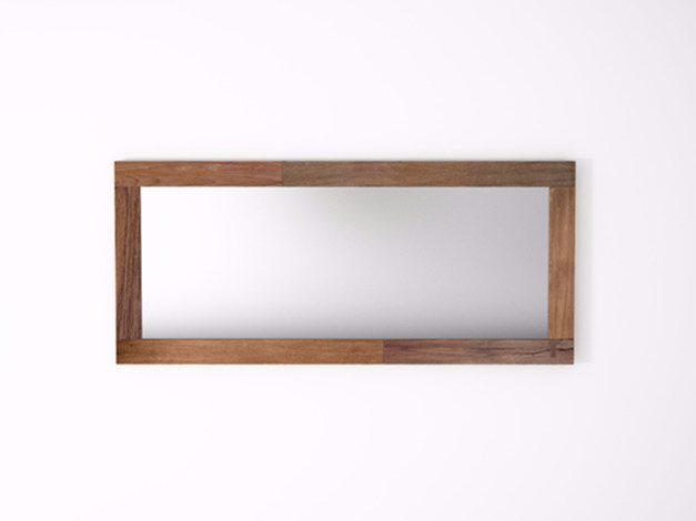 Rectangular wall-mounted framed mirror ORGANIK OR35-TMH | Mirror - KARPENTER