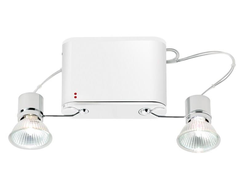 Adjustable aluminium spotlight ORBIS | Spotlight - Fabbian