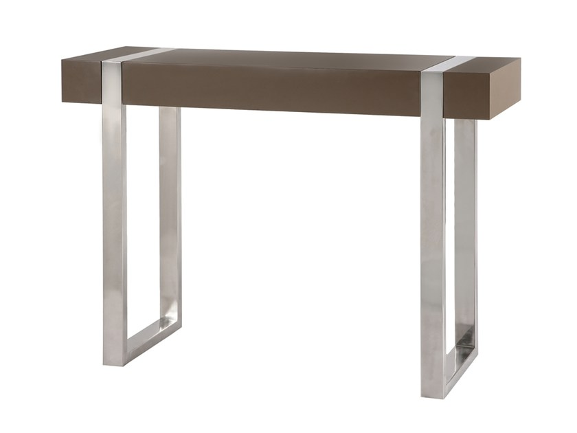 Lacquered rectangular MDF console table ORCA | MDF console table - Branco sobre Branco