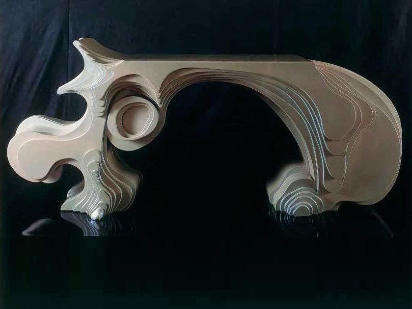 Wooden writing desk ORGANICA by Mirabili
