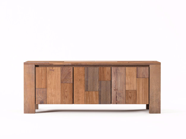 Wooden sideboard with doors ORGANIK OR16-TMH | Sideboard - KARPENTER