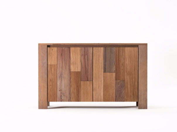 Wooden sideboard with doors ORGANIK OR19-TMH | Sideboard - KARPENTER