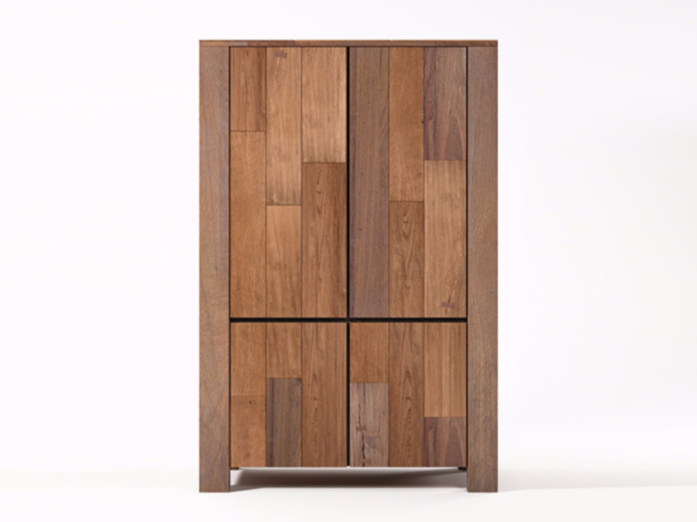 Wooden highboard with doors ORGANIK OR22-TMH | Highboard - KARPENTER