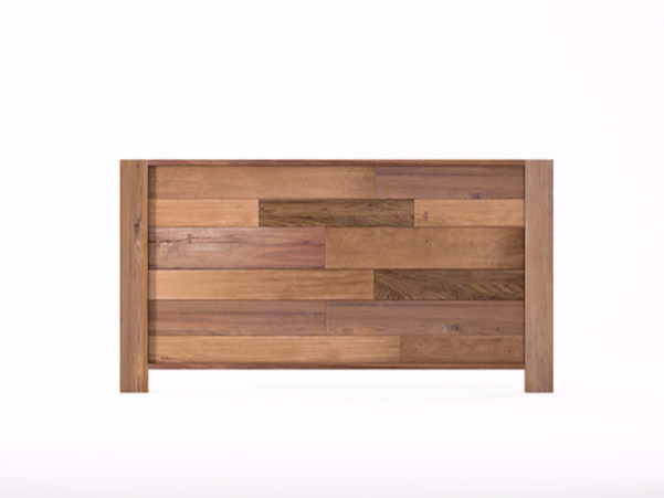 Wooden headboard for double bed ORGANIK OR29-TMH | Headboard - KARPENTER
