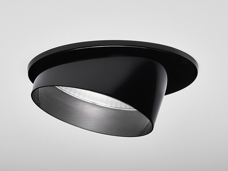 LED semi-inset adjustable powder coated aluminium spotlight Oriente - PURALUCE