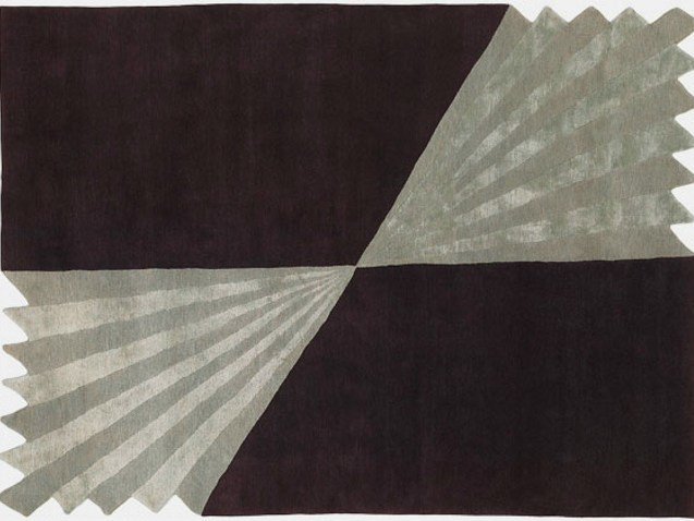Handmade rectangular rug ORIGAMI - Deirdre Dyson