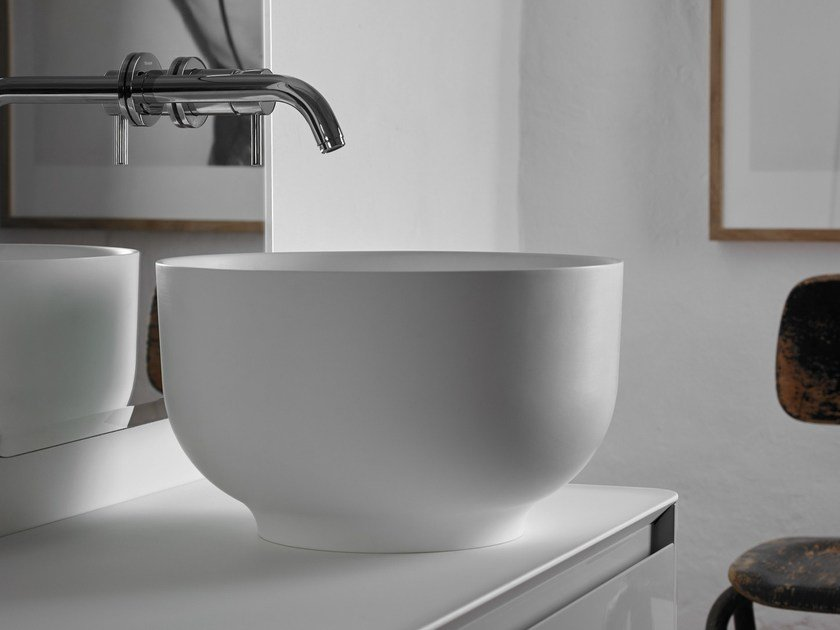 Countertop round Ceramilux® washbasin ORIGIN | Countertop washbasin - INBANI