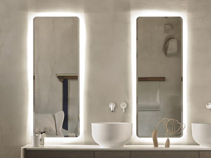 espejo rectangular con luces integradas para bao origin espejo con luces integradas by inbani
