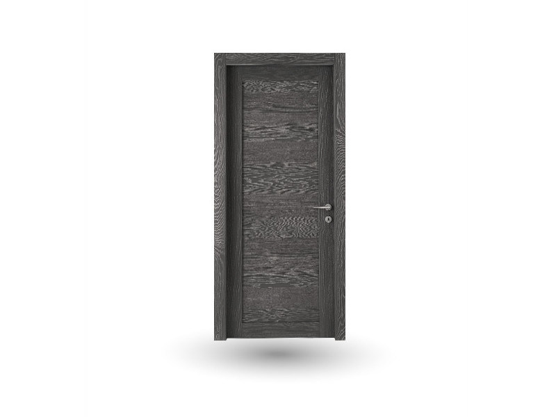 Hinged wooden door ORION 37 FRASSINO DECAPE' ANTRACITE - GD DORIGO