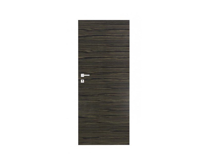 Door panel for indoor use ORIZZONTI SMOOTH GRAY EBONY - Metalnova