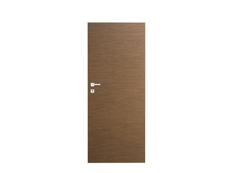 Door panel for indoor use ORIZZONTI SMOOTH STRIPED BLACK WALNUT by Metalnova