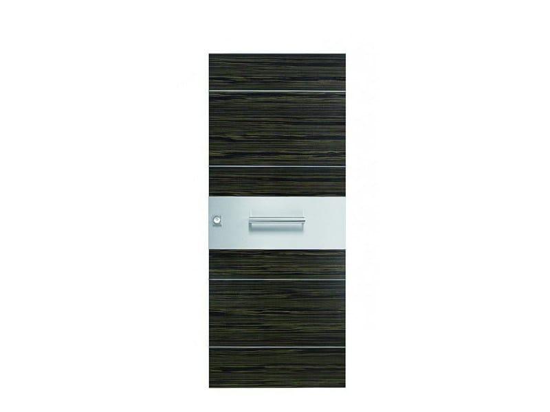 Door panel for indoor use ORIZZONTI ZENITH GRAY EBONY - Metalnova