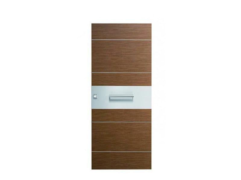 Door panel for indoor use ORIZZONTI ZENITH BLACK WALNUT - Metalnova
