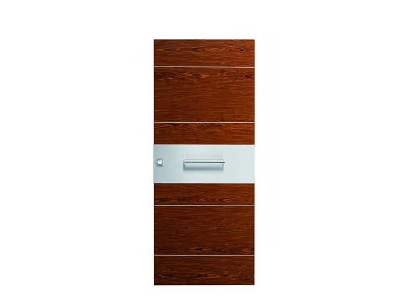 Door panel for indoor use ORIZZONTI ZENITH ROSEWOOD - Metalnova