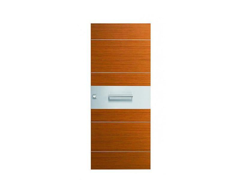 Door panel for indoor use ORIZZONTI ZENITH STRIPED TEAK - Metalnova