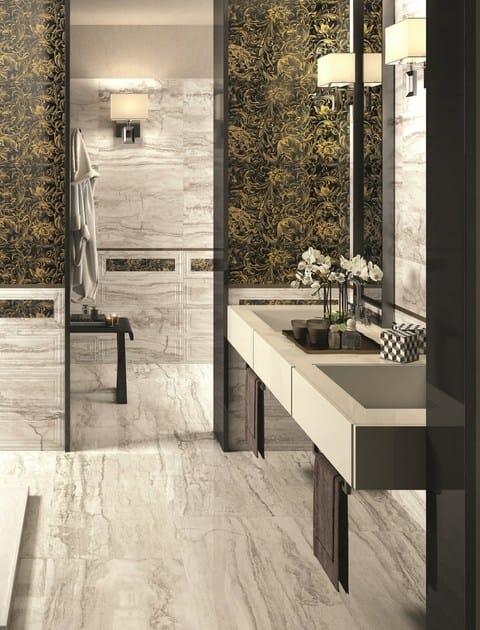 Pavimento in gres porcellanato effetto marmo oro bianco for Ceramica d imola