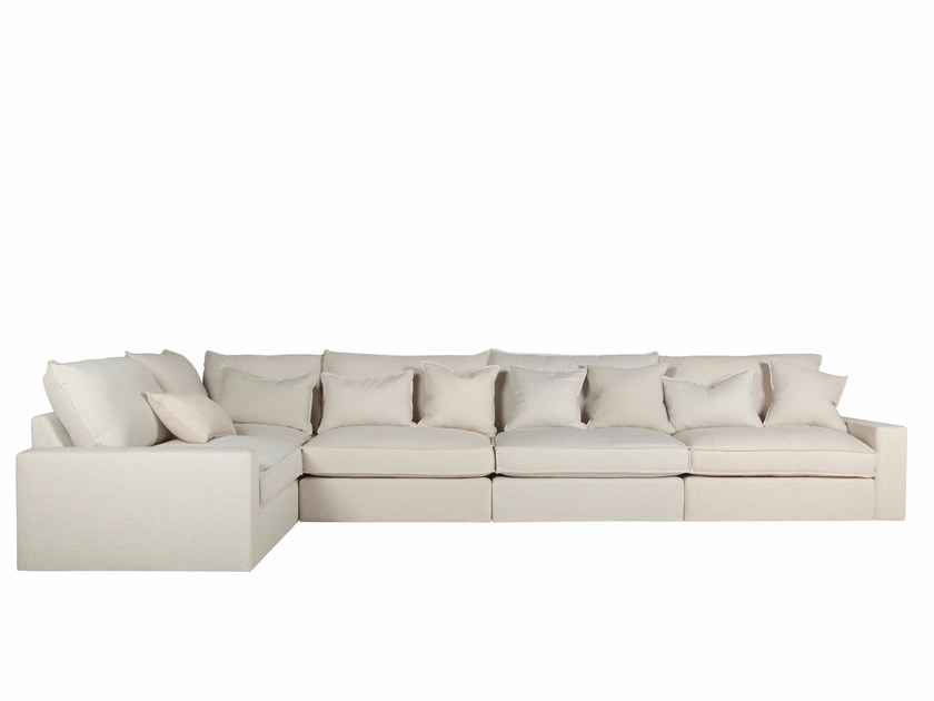 Contemporary style 4 seater corner sectional fabric sofa OSCAR | 4 seater sofa - SITS