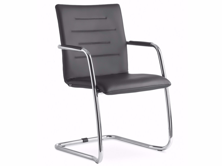 Cantilever stackable chair with armrests OSLO 225-N4 - LD Seating