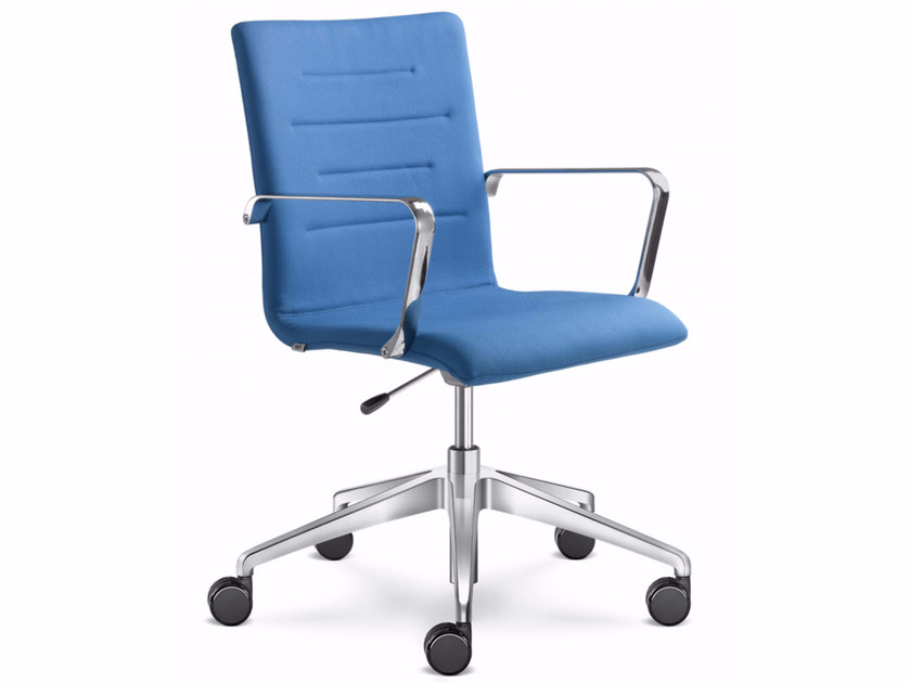 Height-adjustable task chair with armrests with casters OSLO 227-F80-N6 by LD Seating