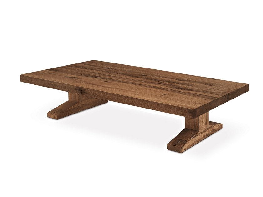 Low rectangular oak coffee table OSLO | Coffee table - Oliver B.