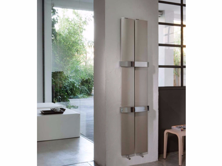 Wall-mounted extruded aluminium radiator OTHELLO TWIN - RIDEA
