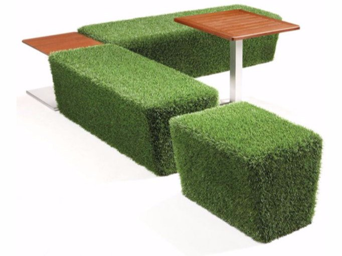EPS outdoor chair covered with synthetic grass ERBOTTO® | Outdoor chair - Cabox