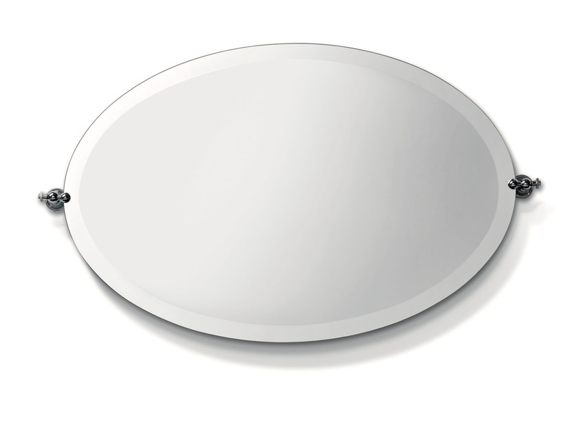 Tilting oval bathroom mirror CIRCLE | Oval mirror - BATH&BATH