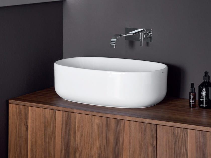Countertop oval ceramic washbasin SEMPLICE | Oval washbasin by Nic Design