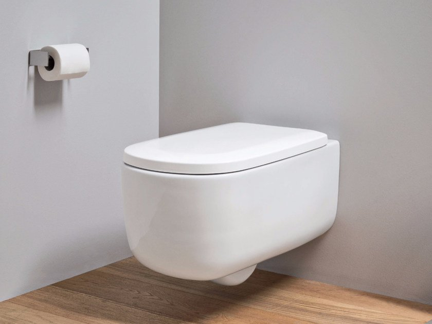 Wall-hung ceramic toilet OVVIO | Wall-hung toilet by Nic Design
