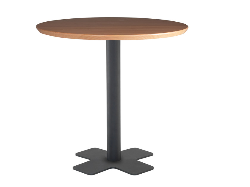 Metal table base with 4-spoke base OXO by Papatya