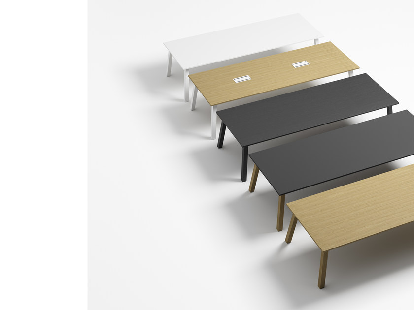 Rectangular wooden table OXTON 300 by Crassevig