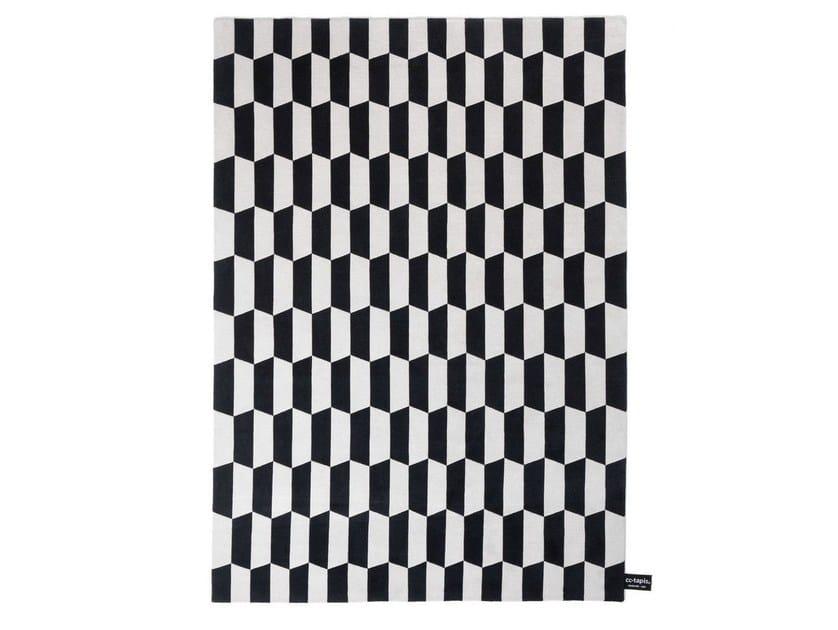 Rectangular rug with geometric shapes P.A.N.E. - cc-tapis ®