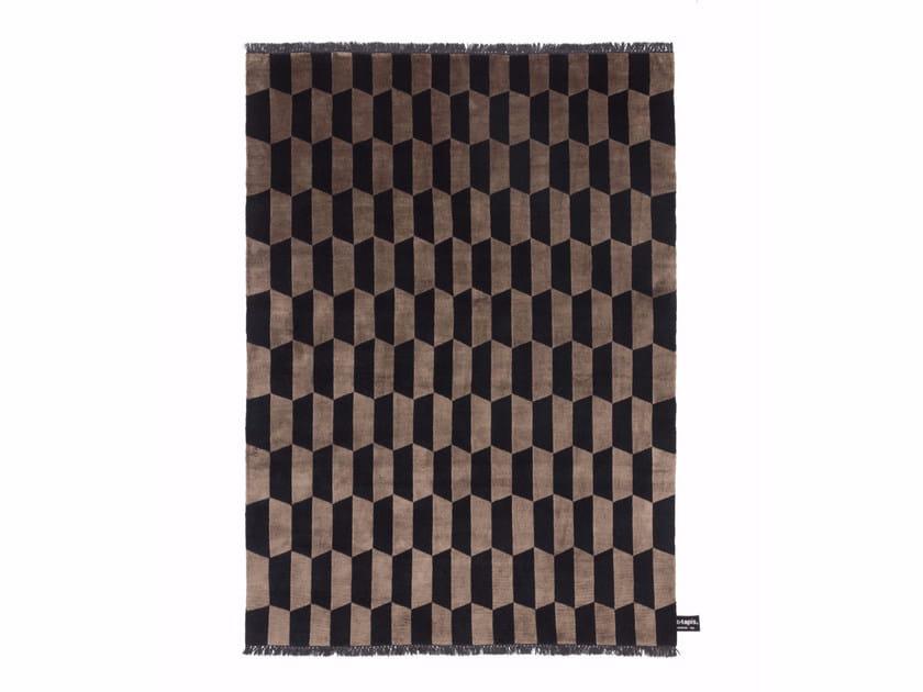 Rectangular rug with geometric shapes P.A.N.E. SOIE - cc-tapis ®
