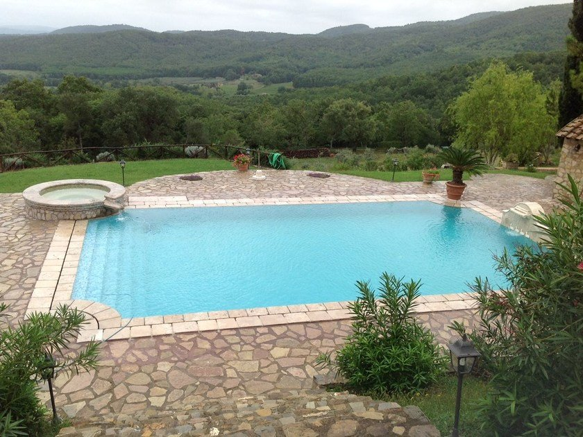 In-Ground natural stone swimming pool Swimming pool 6 - Garden House Lazzerini