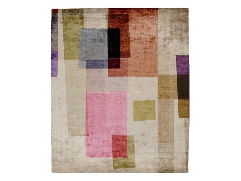 Handmade rectangular silk rug P05 READY OR NOT (DORNIK SKETCHES) by HENZEL STUDIO