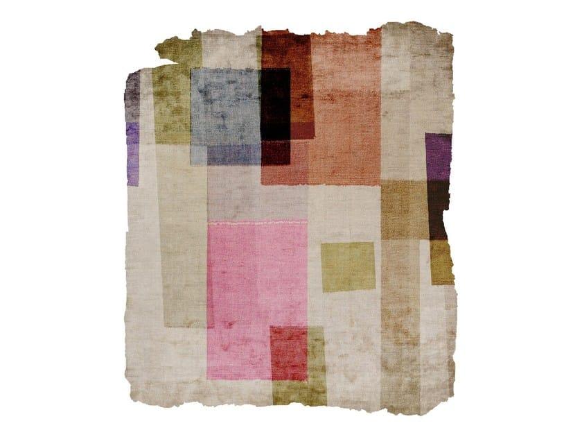 Handmade silk rug P06 READY OR NOT (DORNIK SKETCHES) CUT by HENZEL STUDIO