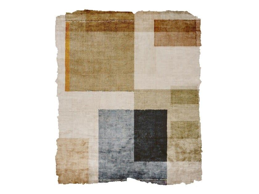 Handmade silk rug P104 DOPAMINE WADEN PLAZA RAW ICE CUT by HENZEL STUDIO